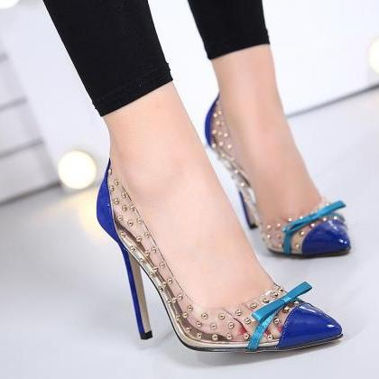 Pointed Toe Transparent Barely Ther..