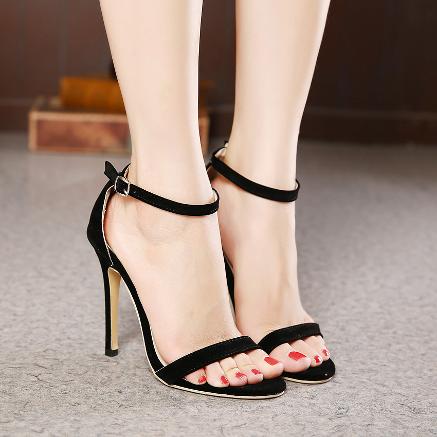 Simple Heels Sandals Summer Shoes Women Platform Sandals Ankle Warp Women
