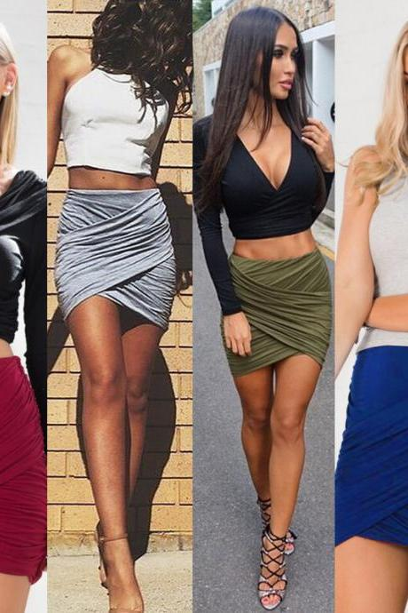 Ebay Hot 2016 European women love 5 colors pleated Bandage night-Club Dress Slim Pencil Midi Bodycon party dress women tank summer package hip skirt dresses vestido de las mujeres VD8029