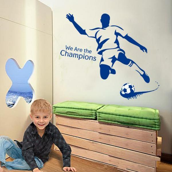 JM8261-1 Drop Shipping 2015 New Arrival Creative Removable I love football green blue color decoration wall stickers Mural PVC Home Decor Wall Stickeres Creative Bedroom Sofa TV background wall stickers wall decoration stickers creative wallpaper Stickeres Decoración Del Hogar
